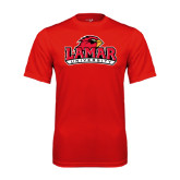 Syntrel Performance Red Tee-Lamar University w/Cardinal Head