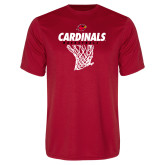 Performance Red Tee-Basketball Net Design