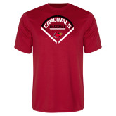 Syntrel Performance Red Tee-Baseball Geometric Plate