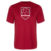 Syntrel Performance Red Tee-Soccer Shield Design
