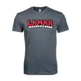 SoftStyle Charcoal T Shirt-Lamar University