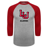 Grey/Red Raglan Baseball T-Shirt-Alumni