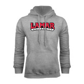 Grey Fleece Hood-Lamar University