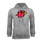 Grey Fleece Hood-Cardinal Head