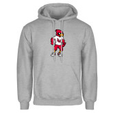 Grey Fleece Hoodie-Cardinal Full Body