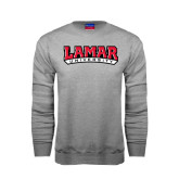 Champion Grey Fleece Crew-Lamar University