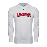Under Armour White Long Sleeve Tech Tee-Lamar