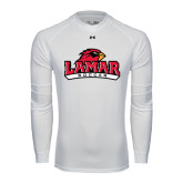 Under Armour White Long Sleeve Tech Tee-Soccer