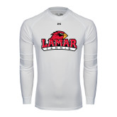 Under Armour White Long Sleeve Tech Tee-Tennis