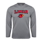 Syntrel Performance Steel Longsleeve Shirt-Lamar w/Cardinal Head