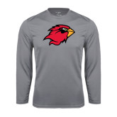 Syntrel Performance Steel Longsleeve Shirt-Cardinal Head