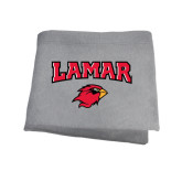 Grey Sweatshirt Blanket-Lamar w/Cardinal Head