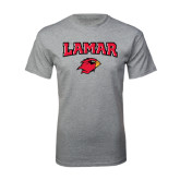 Sport Grey T Shirt-Lamar w/Cardinal Head
