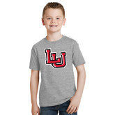 Youth Grey T-Shirt-Interlocking LU