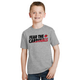 Youth Grey T-Shirt-Fear The Cardinals