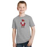 Youth Grey T Shirt-Cardinal Full Body