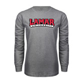 Grey Long Sleeve TShirt-Lamar University