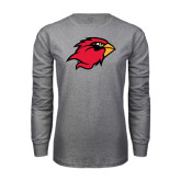 Grey Long Sleeve T Shirt-Cardinal Head