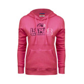 Champion Pink Azalea Fleece Hood-Lamar University Distressed Foil