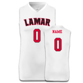 Replica White Adult Basketball Jersey-Personalized