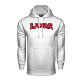 Under Armour White Performance Sweats Team Hood-Lamar
