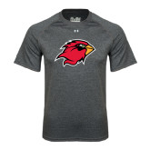 Under Armour Carbon Heather Tech Tee-Cardinal Head