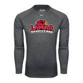 Under Armour Carbon Heather Long Sleeve Tech Tee-Lamar University w/Cardinal Head