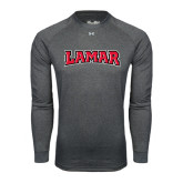 Under Armour Carbon Heather Long Sleeve Tech Tee-Lamar