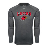 Under Armour Carbon Heather Long Sleeve Tech Tee-Lamar w/Cardinal Head