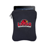 BUILT Neoprene Black Zippered Tablet Sleeve-Lamar University w/Cardinal Head