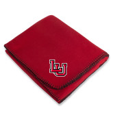 Red Arctic Fleece Blanket-Interlocking LU