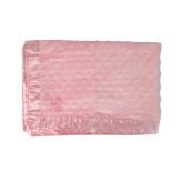 Baby Pink Cuddle Fleece Blanket-Lamar University w/Cardinal Head