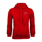 Red Fleece Hood-Lamar w/Cardinal Head