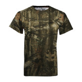 Realtree Camo T Shirt-Lamar University w/Cardinal Head