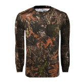 Realtree Camo Long Sleeve T Shirt w/Pocket-Lamar University w/Cardinal Head