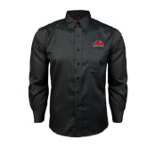 Red House Black Long Sleeve Shirt-Lamar University w/Cardinal Head