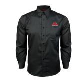 Red House Black Long Sleeve Shirt-Lamar University w/Cardinal Head