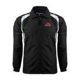 Colorblock Black/White Wind Jacket-Lamar University w/Cardinal Head