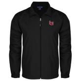 Full Zip Black Wind Jacket-Interlocking LU