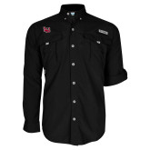 Columbia Bahama II Black Long Sleeve Shirt-Interlocking LU
