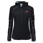 Columbia Ladies Sweet As Softshell Black Jacket-Primary Mark