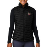 Columbia Mighty LITE Ladies Black Vest-Interlocking LU