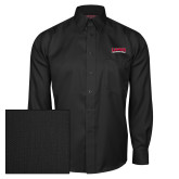 Red House Black Herringbone Long Sleeve Shirt-Wordmark