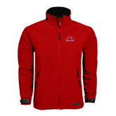 Red Softshell Jacket-Lamar University w/Cardinal Head