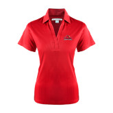 Ladies Red Performance Fine Jacquard Polo-Lamar University w/Cardinal Head