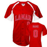Replica Red Baseball Jersey-Personalized