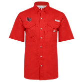 Columbia Bonehead Red Short Sleeve Shirt-Interlocking LU