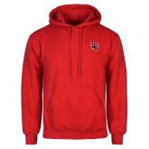 Red Fleece Hood-Interlocking LU