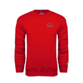 Red Fleece Crew-Lamar University w/Cardinal Head