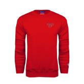 Red Fleece Crew-Lamar w/Cardinal Head